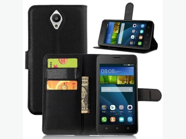 Flip Leather Wallet Stand Case for Huawei Y635 Cell Phone