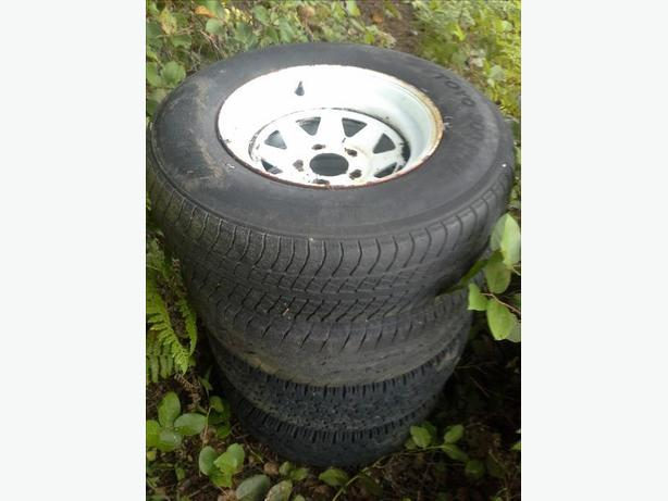 5 bolt chev rims with tires