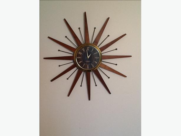 Sunburst Starburst Westclox Clock