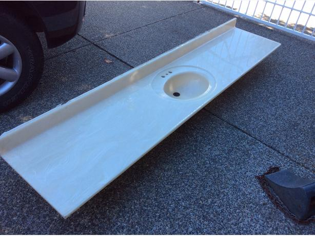 "103""x22"" Bathroom sink and countertop"