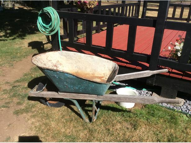 solid well built wheel barrow