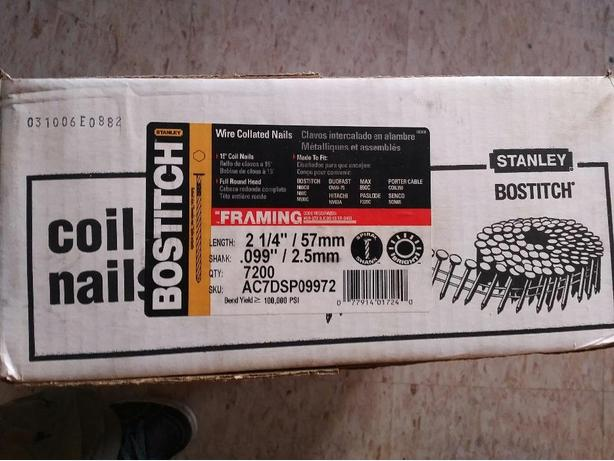 Bostitch Wire Collated Framing Nails (7200 count box)