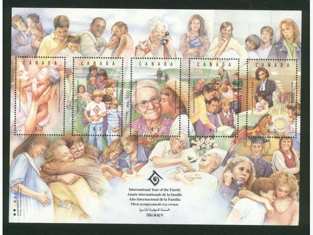 1994  Souvenir Pane Stamps International Year of the Family