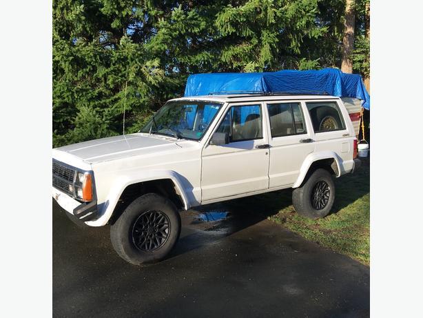 1989 jeep cherokee 4wd white