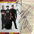 Blink 182 Autographed T-Shirt & Concert Program