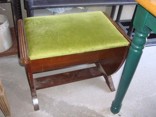 Beautiful Antique Piano Bench with Inlay - $250