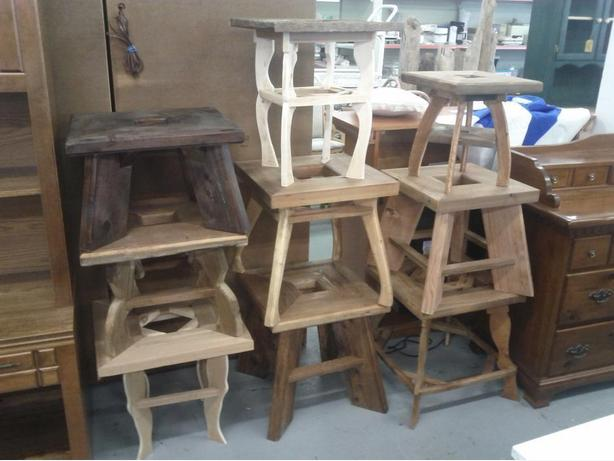 Various Cedar End Tables