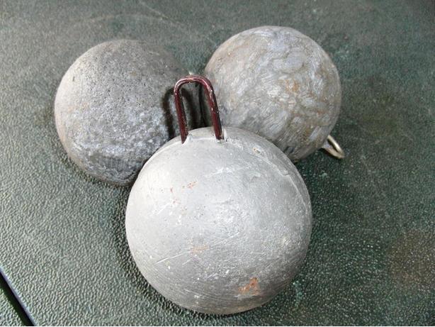 6 to 7 LB Downrigger Cannon Balls