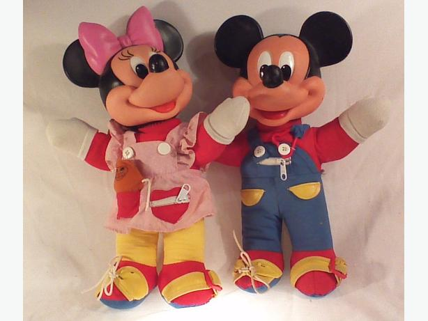 Minnie & Mickey Learn-to-Dress dolls