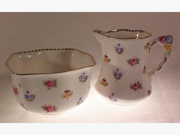 Royal Stafford floral cream & sugar