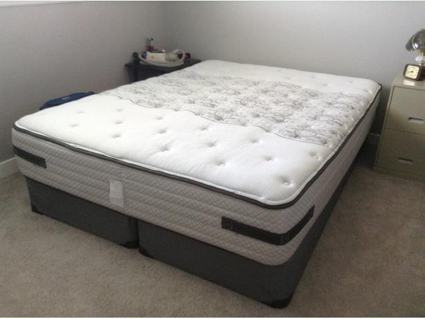sealy queen size bed for sale east regina regina. Black Bedroom Furniture Sets. Home Design Ideas