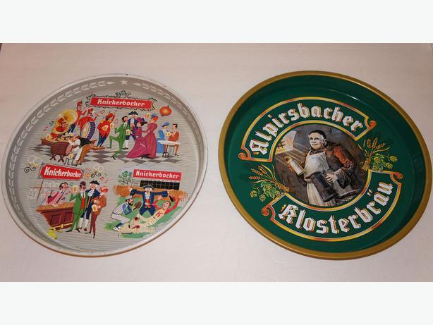 2 Beer Trays : Knickerbocker and Alpirsbacher Klosterbräu 12 inch
