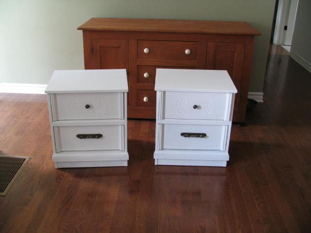Two matching night tables