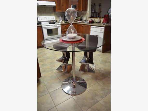 """Glass Dining table 36"""" wide 36"""" high"""