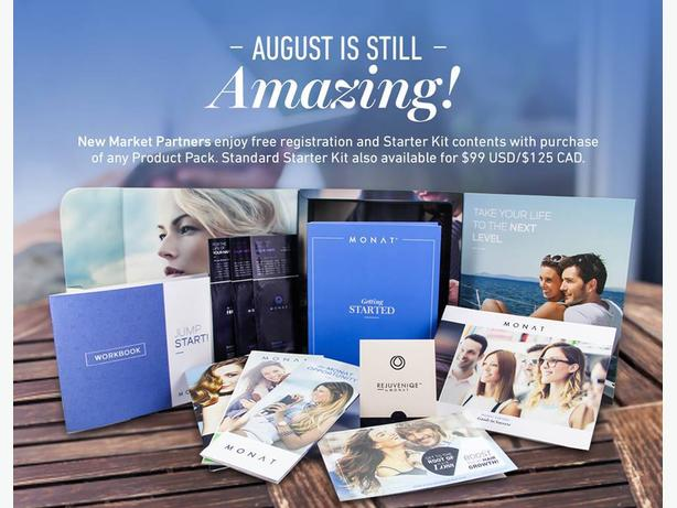 Monat:  FREE Starter Kit and FREE Shipping with Purchase of Product Pack!
