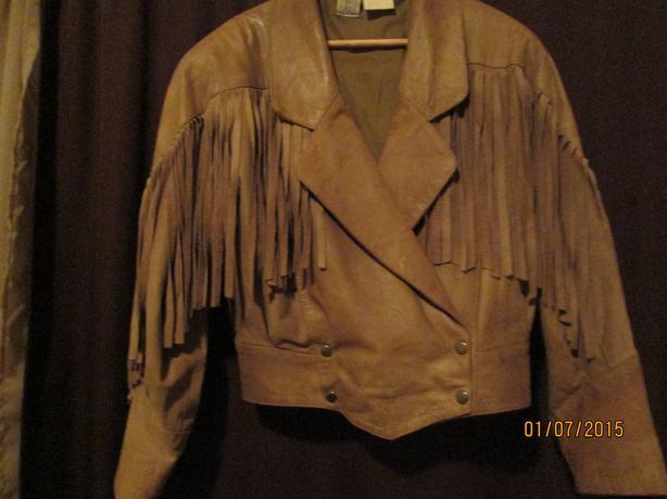 90's Suede Fringe  Jacket