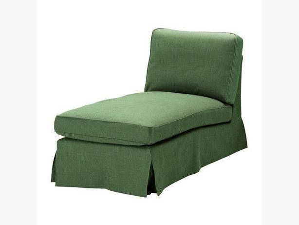 Ikea ektorp chaise lounge slipcover svanby green for Ikea stocksund chaise lounge