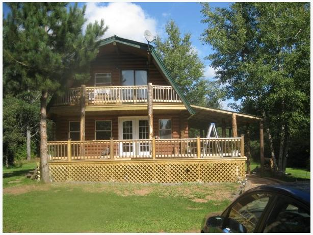 Private Log Home in Country setting