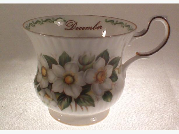 December Christmas Rose coffee cup