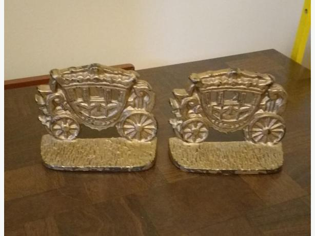 VINTAGE CAST IRON BOOK ENDS