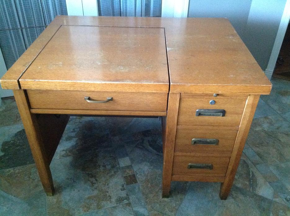 Antique Solid Oak Typewriter Desk North Nanaimo