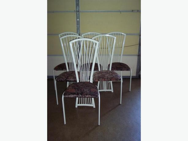 White Metal Chairs (price for all 6)