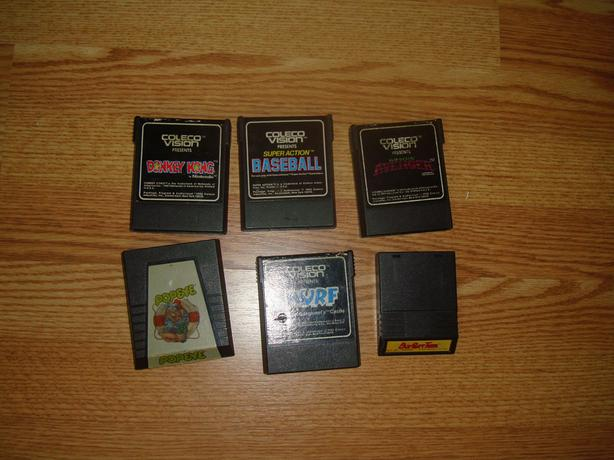 6 Like New Coleco Vision Games - $5 each