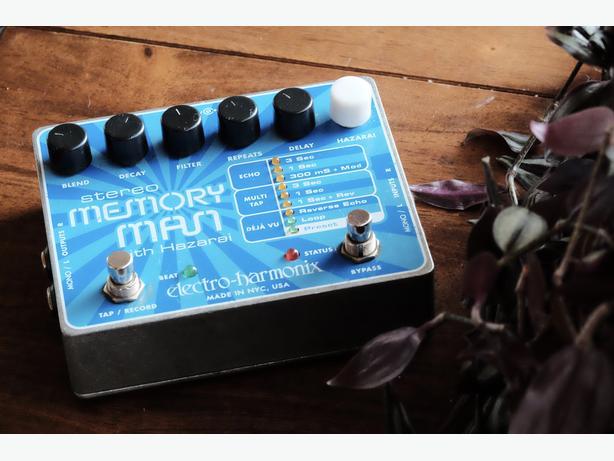 Electro Harmonix Stereo Memory Man with Hazarai Delay/Looper Pedal