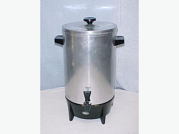 Retro West Bend Silver 12-36 cup Party Percolator~Model 19308