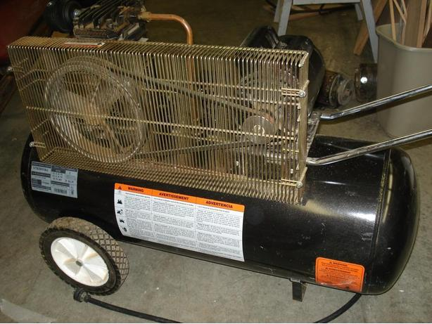Compressor: 5HP, 125 Psi, 26 Gallon, 120 Volt, Belt Drive