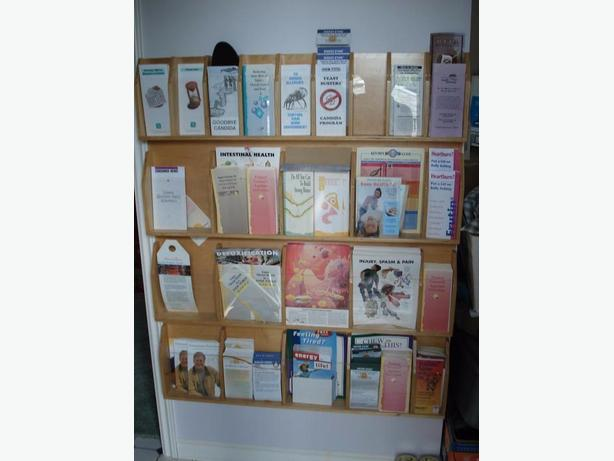 "Quality Brochure Rack, Slots for 9""w x 12""h  (&)  5""w x 12""h"