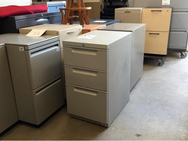 File Cabinets, Pedestals. Made to go under a desk.