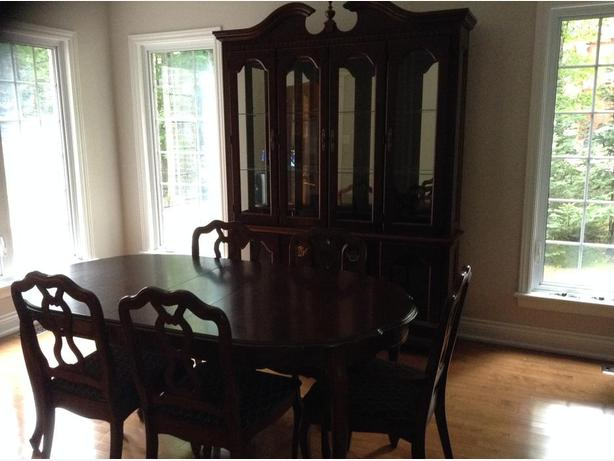 Dining room set with buffet and Hutch (made in Canada)