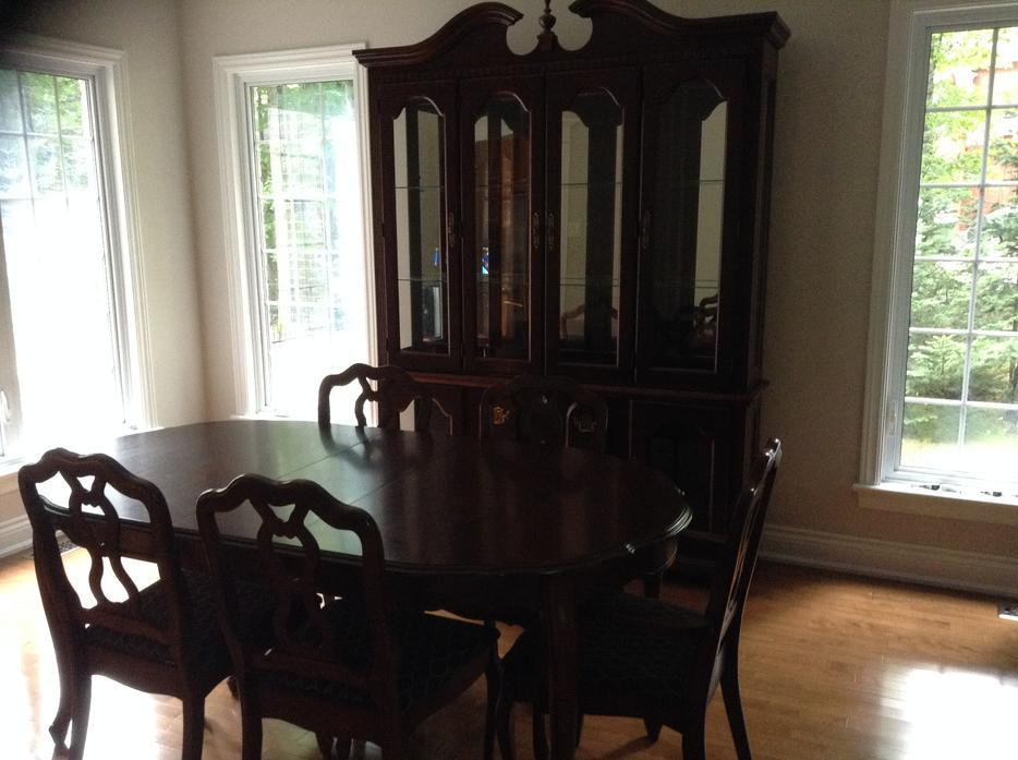 dining room set with buffet and hutch made in canada