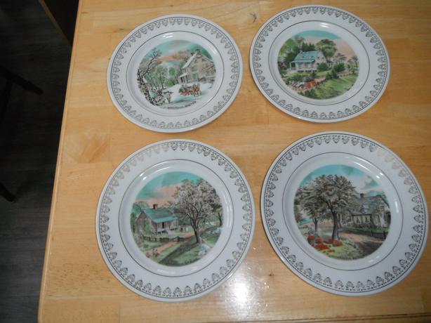 4 decorative plates from Japan- N. Duncan