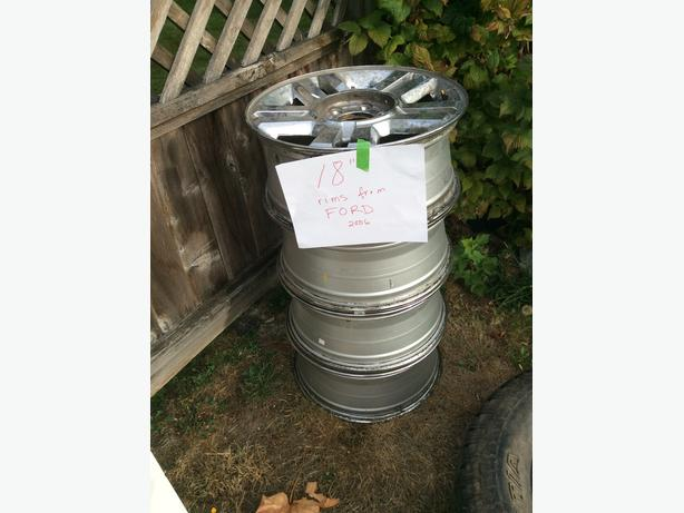 """18"""" rims from Ford F-150 6 bolt pattern"""