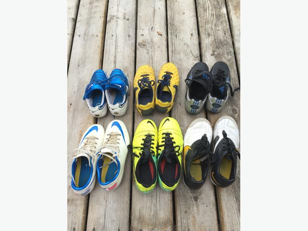 Various good quality kids soccer cleats