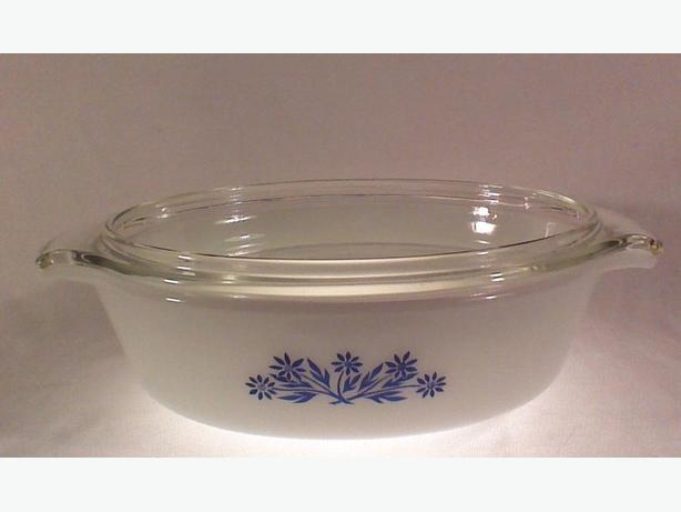 Fire-king blue cornflower 1.5 QT casserole