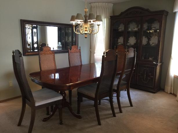 log in needed 600 dining room table and china cabinet