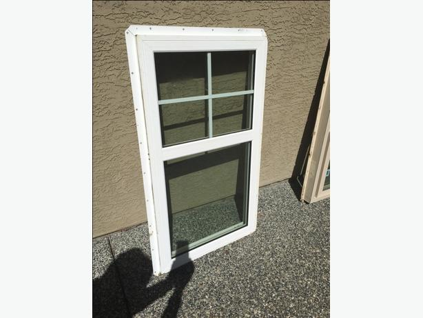 White Vinyl window