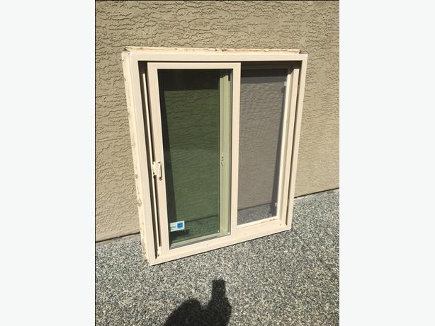 Beige Vinyl Window