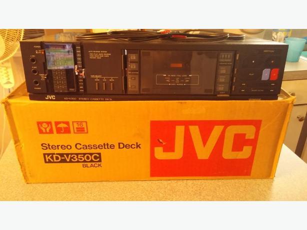 jvc stereo cassette deck