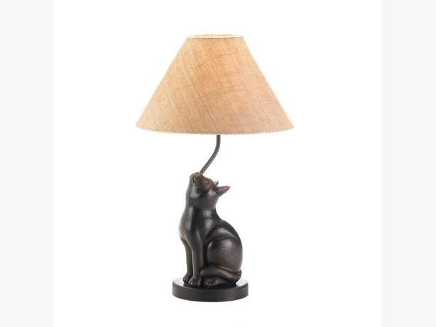 Cat Figurine Statue Table Lamp Brand New