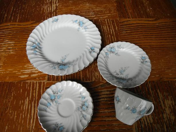 4 piece Snowhite Regency Johnson Bros. Ironstone set