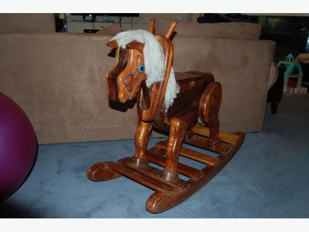 Hand crafted rocking horse west shore langford colwood for Hand crafted rocking horse
