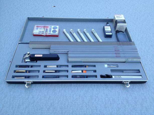 Rotring Koh-i-noor Rapidograph drafting equipment