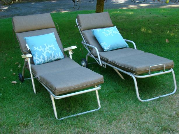 Two Aluminum Patio Loungers $100 each