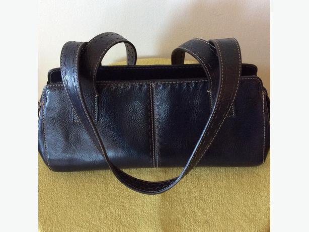 NAVY BLUE AUTHENTIC FOSSIL HANDBAG - SIGNED AND NUMBERED