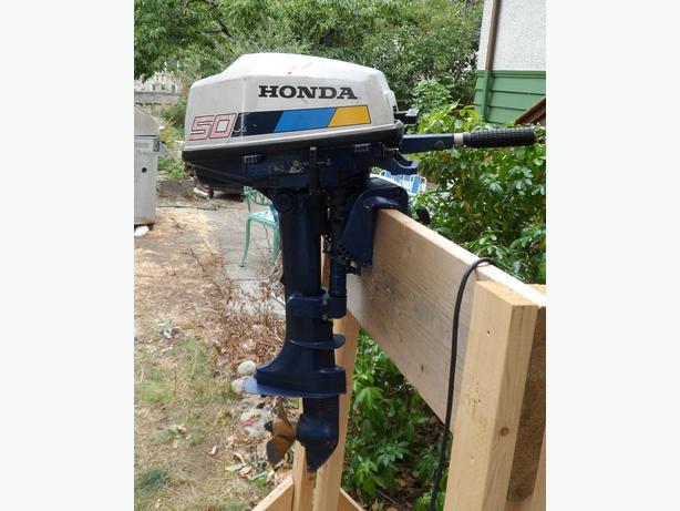 5 hp honda outboard motor central nanaimo nanaimo for Honda 2 5 hp outboard motor