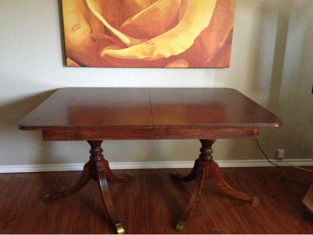 DUNCAN PHYFE DINING TABLE - UNIQUE ANTIQUE